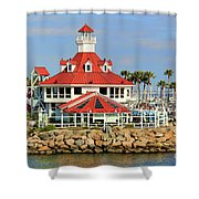 Parker's Lighthouse Restaurant Shower Curtain