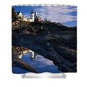 Pemaquid Point Lighthouse Shower Curtain by Brian Jannsen