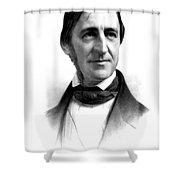 Ralph Waldo Emerson, American Author Shower Curtain