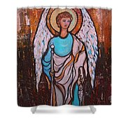 Raphael Archangel Shower Curtain