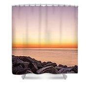 Reculver Sunset Shower Curtain