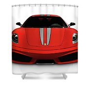 Red Ferrari F430 Scuderia Shower Curtain