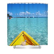 Relaxing At Coco Cay In The Bahamas Shower Curtain