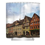 Rothenburg Medieval Old Town  Shower Curtain