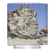 Sarakiniko White Tuff Formations Shower Curtain