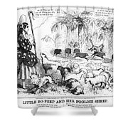 Secession Cartoon, 1861 Shower Curtain