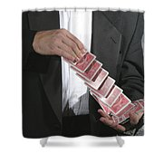 Shuffling Cards Shower Curtain