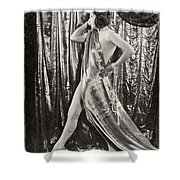 Silent Film Still: Costume Shower Curtain
