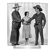 Silent Film Still: Western Shower Curtain