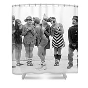 Silent Still: Bather Shower Curtain