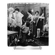 Silent Still: Showgirls Shower Curtain by Granger