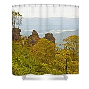 3 Sisters Blue Mountains Shower Curtain