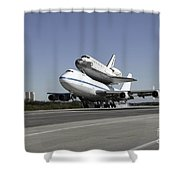 Space Shuttle Endeavour Mounted Shower Curtain