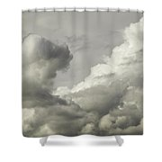 Storm Clouds And Thunder Heads Before Rain Storm Fine Art Print Shower Curtain