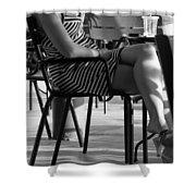 Stripped Dress Shower Curtain