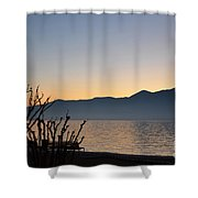 Sunset Over An Alpine Lake Shower Curtain