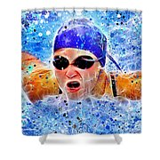 Swimmer Shower Curtain