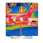 Thermogram Of A House Shower Curtain