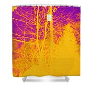 Thermogram Of Electrical Wires Shower Curtain by Ted Kinsman