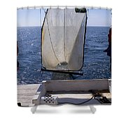 Trawling For Marine Life Shower Curtain
