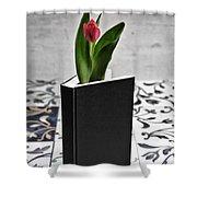 Tulip In A Book Shower Curtain