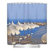 Umbrellas In The Sun Shower Curtain