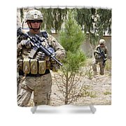 U.s. Army Soldier Stands Guard Shower Curtain