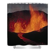 Volcanic Eruption, Spatter Cone Shower Curtain