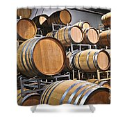 Wine Barrels Shower Curtain