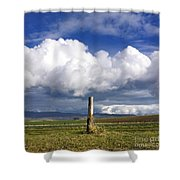 Wooden Post Shower Curtain