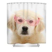 Yellow Labrador Retriever Pup Shower Curtain