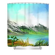 30 Minute Landscape Shower Curtain