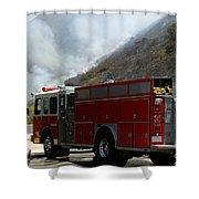 Barnett Fire Shower Curtain