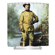Theodore Roosevelt Shower Curtain