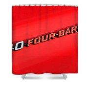 340 Four Barrel Shower Curtain