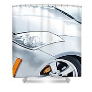 350z Car Front Close-up  Shower Curtain