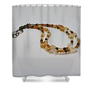 3514 Citrine Double Strand Necklace Shower Curtain