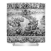 Spanish Armada, 1588 Shower Curtain