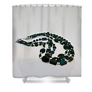 3609 Australian Jasper Triple Strand Necklace Shower Curtain