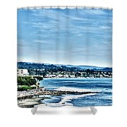 372 Hdr - Sunday At The Beach 1 Shower Curtain