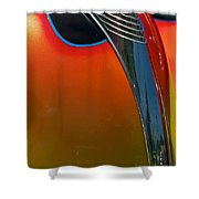 39 Ford Deluxe Hot Rod Hood Ornament  Shower Curtain