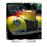 39 Ford Deluxe Hot Rod Shower Curtain