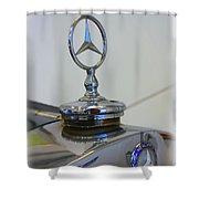39 Mercedes-benz Emblem Shower Curtain
