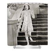 Silent Film Still: Woman Shower Curtain