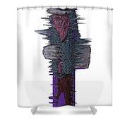 3d Club Hammer Shower Curtain