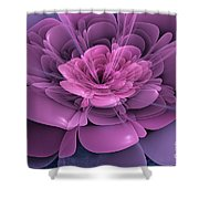 3d Flower Shower Curtain by John Edwards