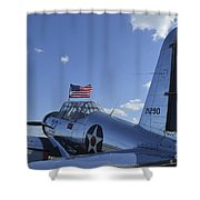 A Bt-13 Valiant Trainer Aircraft Shower Curtain