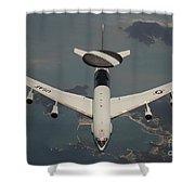 A U.s. Air Force E-3 Sentry Aircraft Shower Curtain