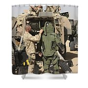 A U.s. Marine Gets Suited Shower Curtain