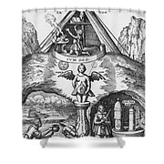 Alchemy Shower Curtain by Science Source